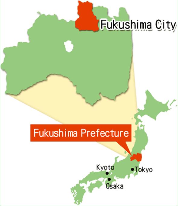 Location of Fukushima City in Japan