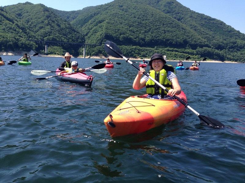茂庭っ湖カヤック(カヌー)ツアー <いいざかサポーターズクラブ>