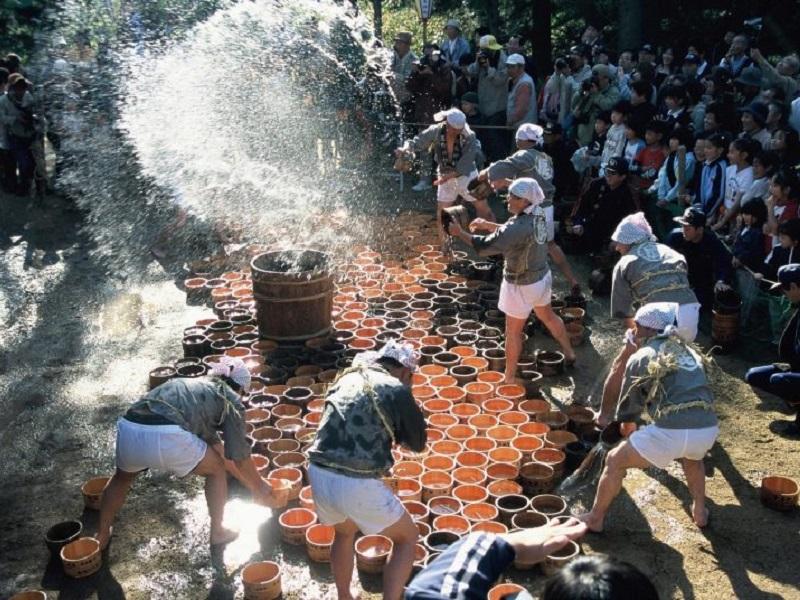 岡山の水かけ祭り