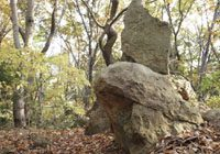 信夫山わらじい推奨コース 信夫山の奇岩探索