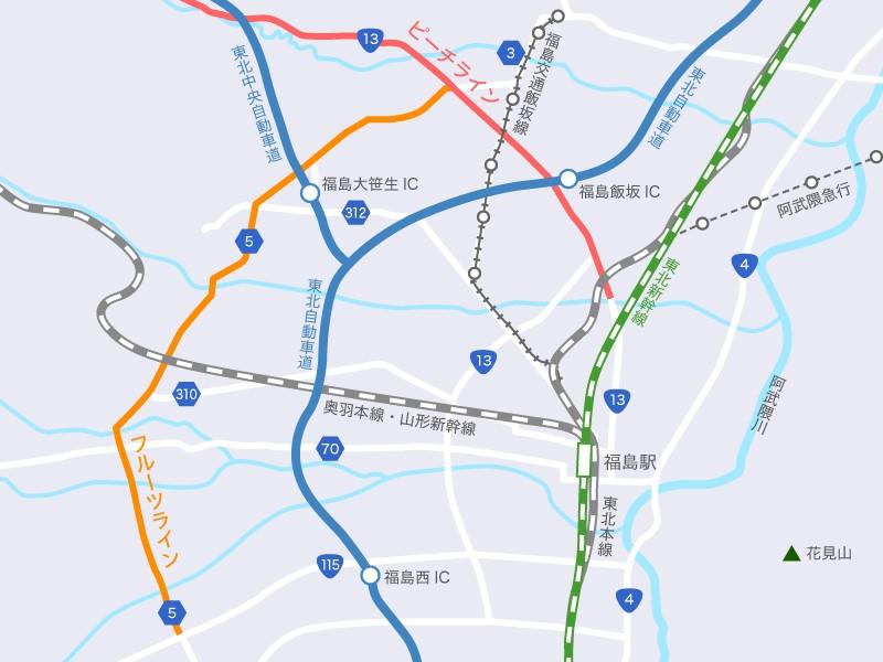 フルーツライン地図