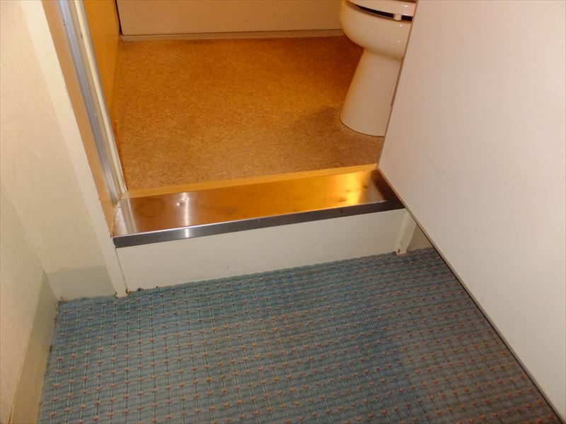 客室(バスルーム段差)