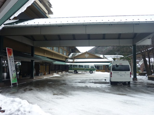 玄関前の乗降車スペース