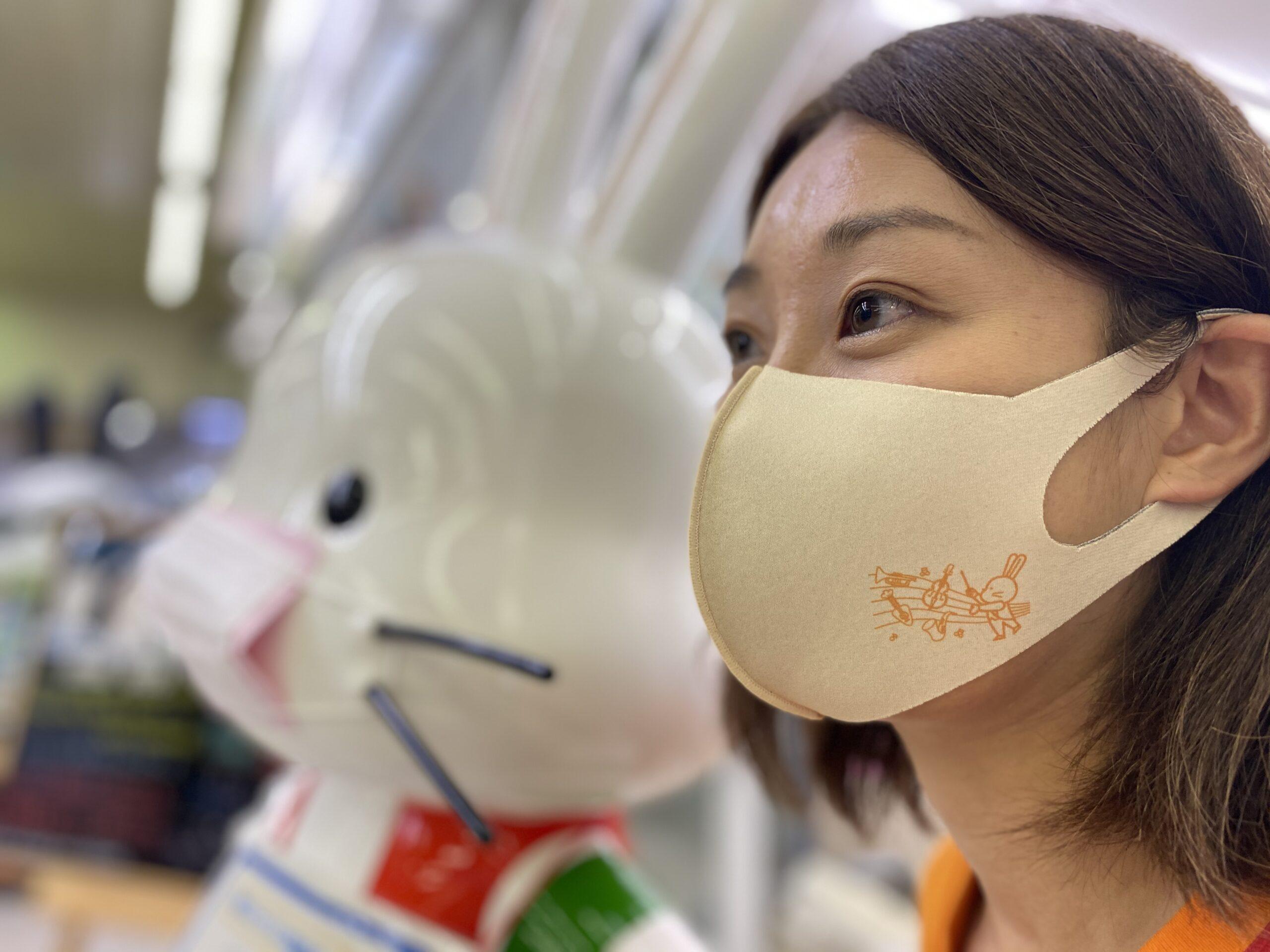 お客様の声から生まれた「ももりんマスク」9月25日福島市観光案内所で販売開始!