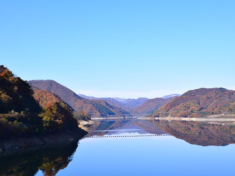 摺上川ダム「茂庭っ湖(モニワッコ)」の紅葉3