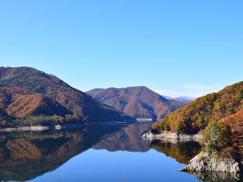 摺上川ダム「茂庭っ湖(モニワッコ)」の紅葉5