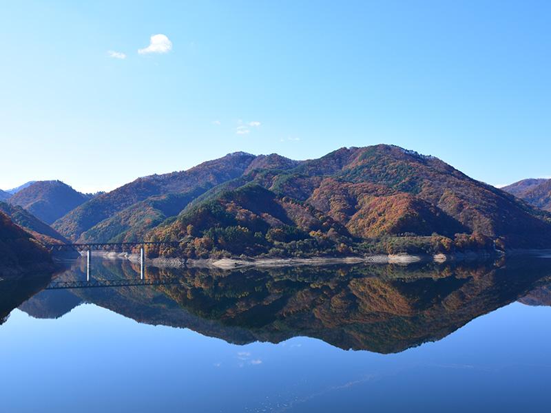 摺上川ダム「茂庭っ湖(モニワッコ)」の紅葉9
