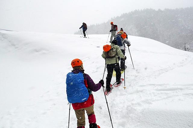 スノーシュー スノートレッキング 二ツ小屋隧道 栗子 飯坂 飯坂温泉