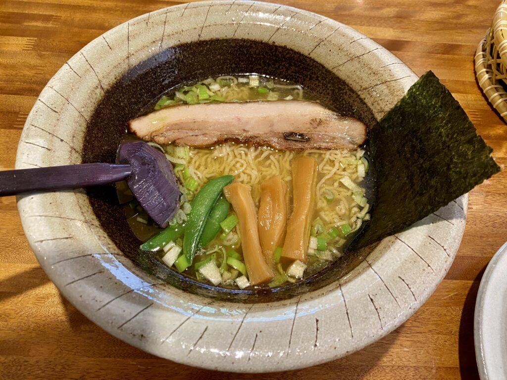 こちらも美味しかった!会津地鶏ラーメン(750円)